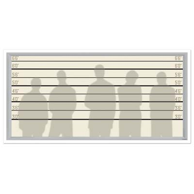Police Lineup Backdrop Wall Decoration - 1.57m