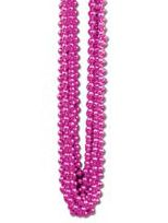 Party Beads Hot Pink - 83.8cm- Pack of 12