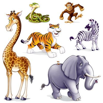 Jungle Animal Props - 1.6m - Pack of 6