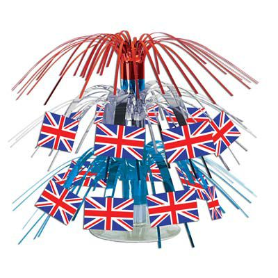 British Flag Mini Cascade Centrepice - 19.1cm