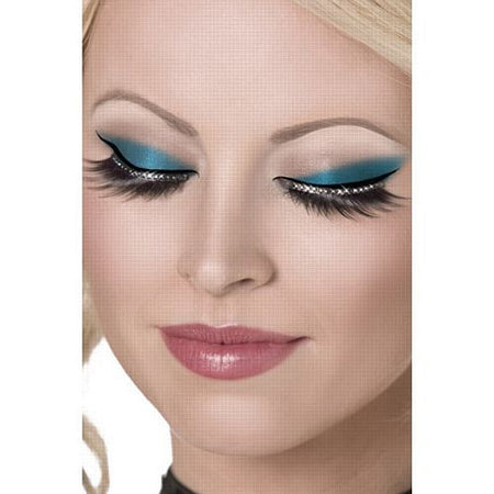 Click to view product details and reviews for Black Eyelashes With Diamantes.