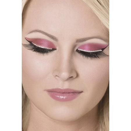 Click to view product details and reviews for Black Eyelashes With Silver Glitter.