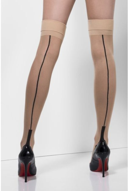 Nude Stockings With Back Seam