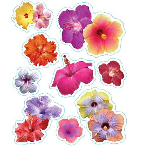 Hibiscus Clings - Assorted Designs - 43.2cm