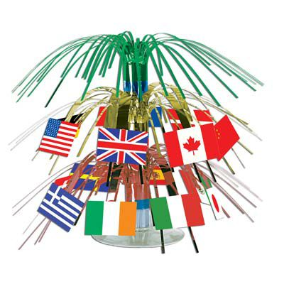 International Flag Mini Cascade Centrepiece - 19cm