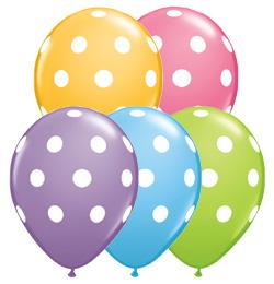 Click to view product details and reviews for Big Polka Dots Assorted Pastel Colour Balloons 11 Pack Of 10.