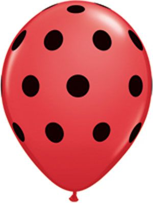 Click to view product details and reviews for Big Polka Dots Red Black Qualatex Balloons 11 Pack Of 25.