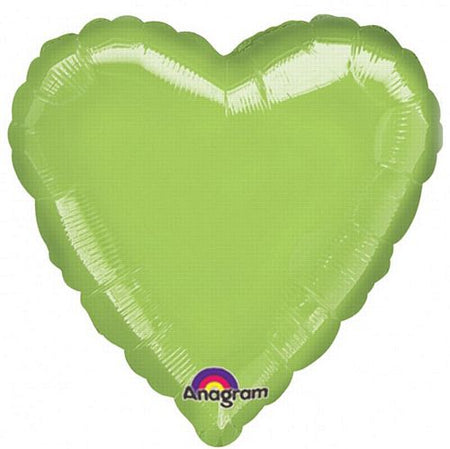 Click to view product details and reviews for Lime Green Heart Shaped Foil Balloon 18.