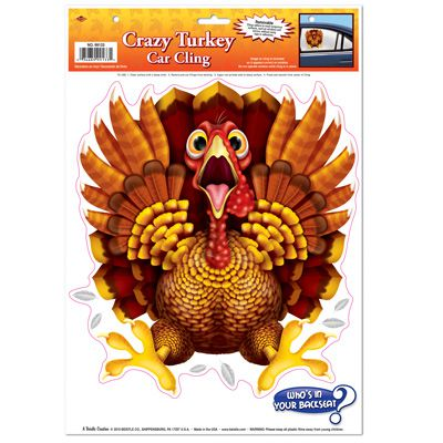 Crazy Turkey Car Cling - 43.2cm
