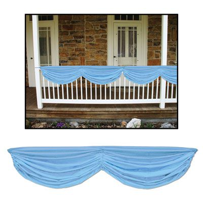Fabric Drapes Light Blue - 5' 10""
