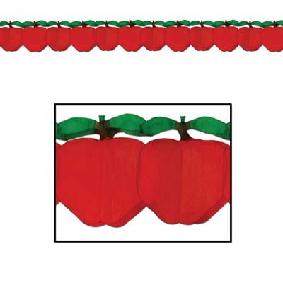 Tissue Apple Garland - 3.66m