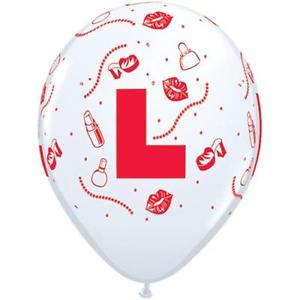 "L Plate Qualatex Latex Balloons - 11"" - Pack of 5"