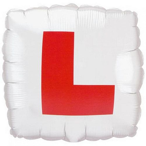 Square L Plate Foil Balloon - 18""