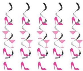 High Heel & Martini Glass Dizzy Danglers - 2.74m
