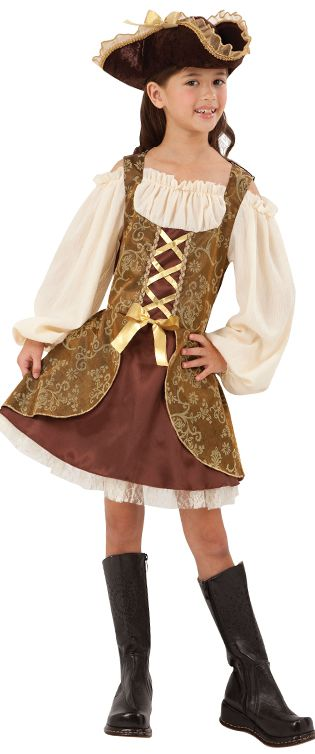 Girl's Golden Pirate Costume