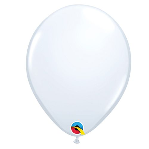"Pearl White Plain Colour Mini Latex Balloons - 5"" - Pack of 10"
