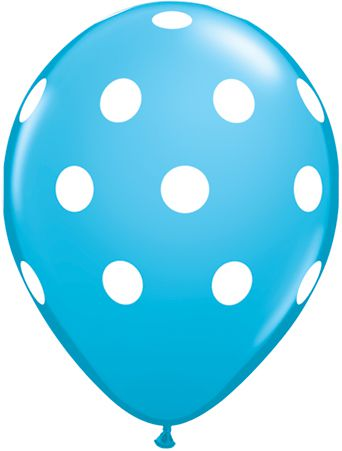 Click to view product details and reviews for Big Polka Dots Robins Egg Blue Qualatex Balloons 11 Pack Of 10.