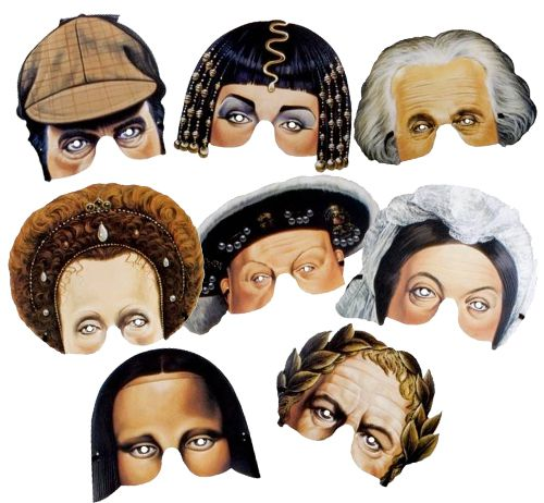 Historical Mask Assortment - Pack of 8