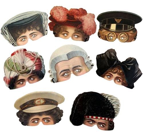 V & A Museum Mask Assortment - Pack of 8