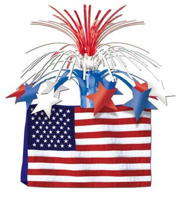 Click to view product details and reviews for American Flag Table Centrepiece 33cm Each.