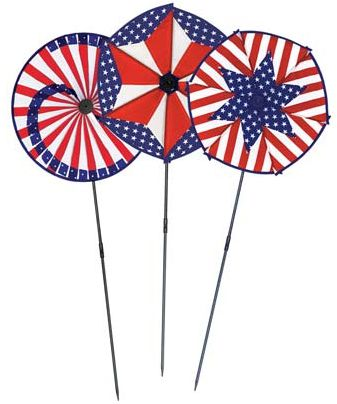 American Wind Wheels - Assorted Designs - 38cm - Each