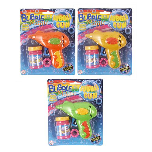 Bubble Gun With Tub of Bubbles - Assorted Colours - Each