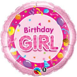 Birthday Girl Pink Qualatex Foil Balloon - 18""