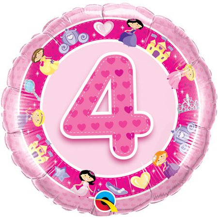Click to view product details and reviews for Age 4 Pink Princess Qualatex Foil Balloon 18.