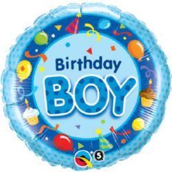 Click to view product details and reviews for Birthday Boy Blue Qualatex Foil Balloon 18.