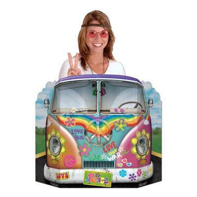 Hippie Bus Stand-In Photo Prop - 94cm