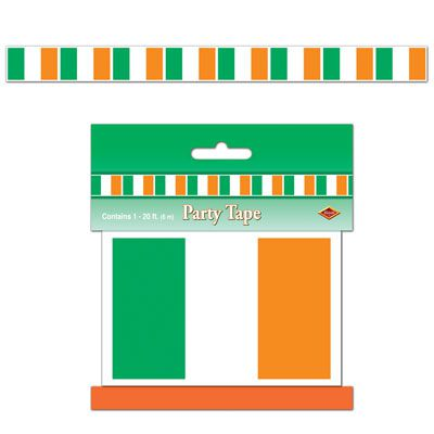 Click to view product details and reviews for Irish Flag Party Tape 61m.