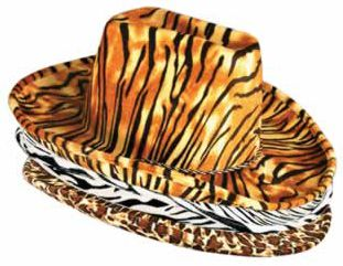 Assorted Animal Print Cowboy Hat - Each
