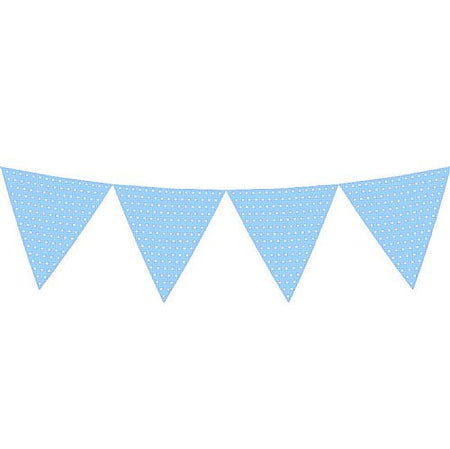 Click to view product details and reviews for Light Blue Polka Dot Paper Bunting 27m.