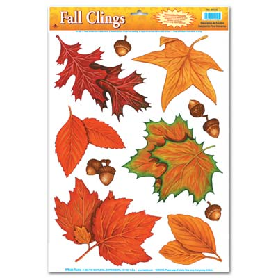Autumn Leaf Clings - 43.2cm - 10 Per Sheet