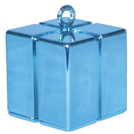 Pearl Blue Gift Box Balloon Weight - 110g - 62mm