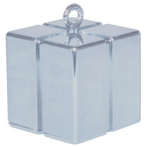 Silver Gift Box Balloon Weight - 110g - 62mm