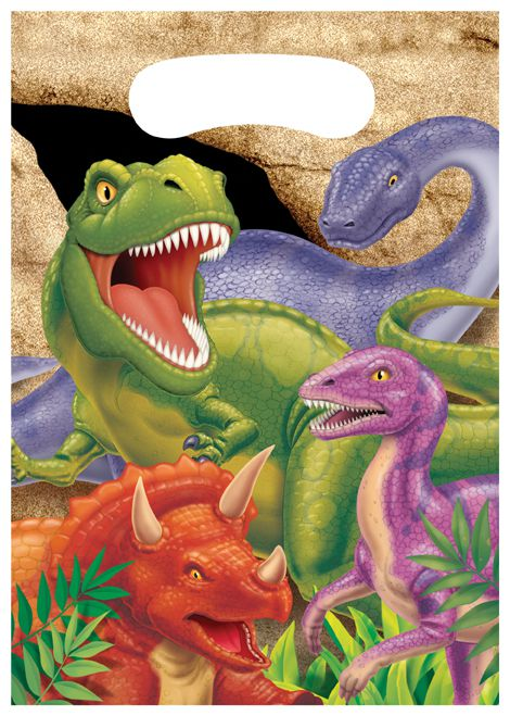 Dino Blast Party Bags - Pack of 8