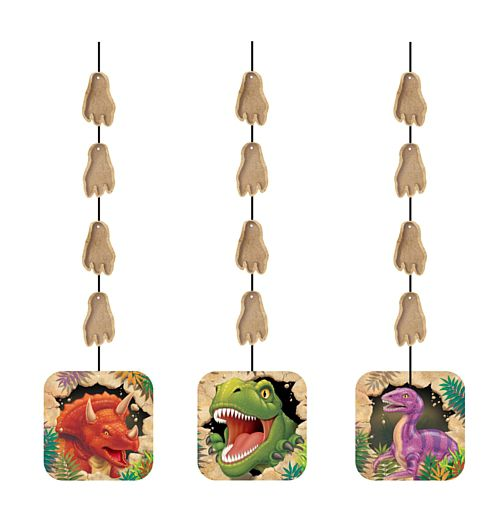 Dino Blast Hanging Cutouts - Pack of 3