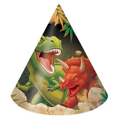 Click to view product details and reviews for Dino Blast Hats Pack Of 8.