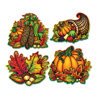 "Autumn Splendor Cutouts 16"" - Pack of 4"