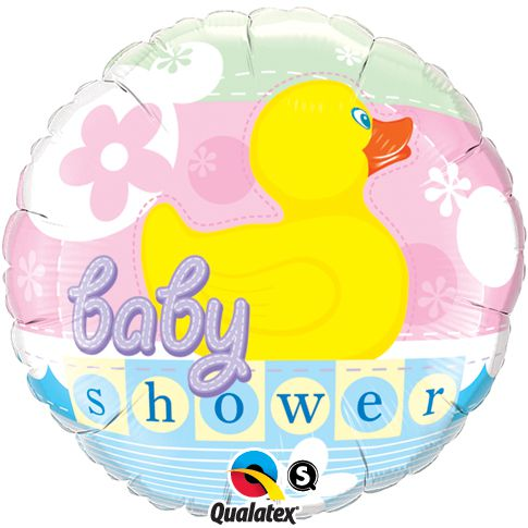 Baby Shower Rubber Duckie Qualatex Foil Balloon - 45.7cm