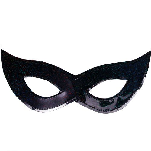 Black Shiny Plastic Eye Mask