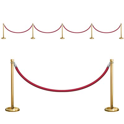 Stanchion Wall Decorations 155m Pack Of 3