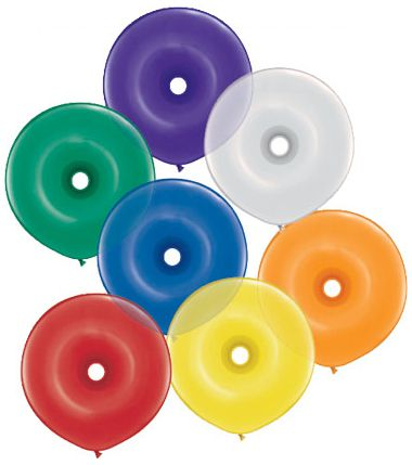 Donut Jewel Qualatex Balloons - Pack of 10 - Assorted