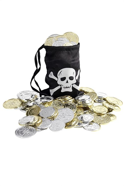 Pirate Bag with Coins - Each