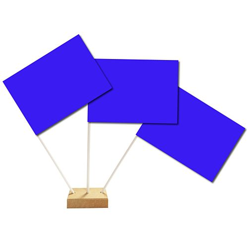 "Blue Paper Table Flag 6"" on 10"" Pole"