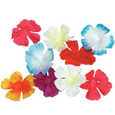 Parti-Colour Silk 'n' Petals - 6.4cm - Assorted Colours - Pack of 40