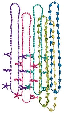 Luau Beads - 81.3cm - Assorted Designs - Pack of 6