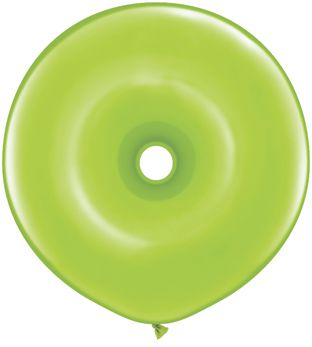 "Donut Lime Green Qualatex Balloons - 16"" - Pack of 10"