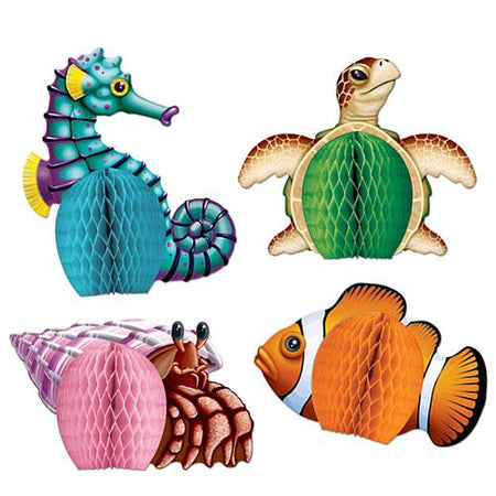 Sea Creatures Table Decorations - 14cm - Pack of 4